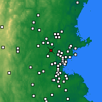 Nearby Forecast Locations - Billerica - карта