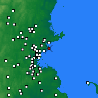 Nearby Forecast Locations - Marblehead - карта