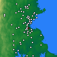 Nearby Forecast Locations - Mattapan - карта