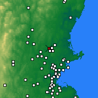 Nearby Forecast Locations - Methuen - карта