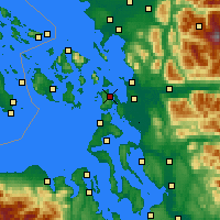 Nearby Forecast Locations - Anacortes - карта