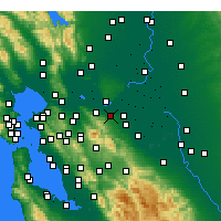 Nearby Forecast Locations - Antioch - карта