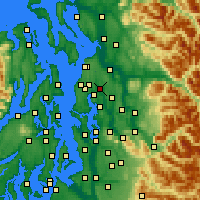 Nearby Forecast Locations - Bothell - карта