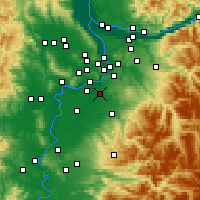 Nearby Forecast Locations - Canby - карта