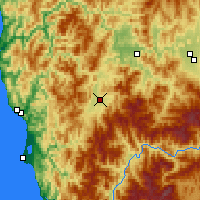 Nearby Forecast Locations - Cave Junction - карта