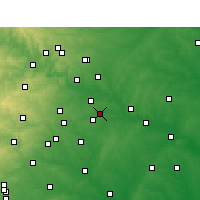 Nearby Forecast Locations - Cedar Creek - карта