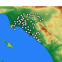 Nearby Forecast Locations - Corona del Mar - карта