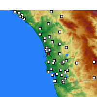 Nearby Forecast Locations - Del Mar - карта