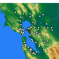 Nearby Forecast Locations - El Cerrito - карта