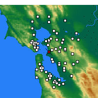 Nearby Forecast Locations - Emeryville - карта