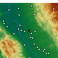 Nearby Forecast Locations - Escalon - карта