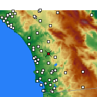 Nearby Forecast Locations - Escondido - карта