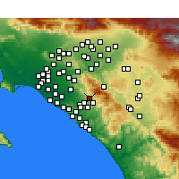 Nearby Forecast Locations - Foothill Ranch - карта