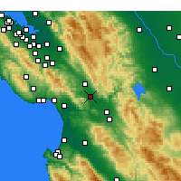 Nearby Forecast Locations - Gilroy - карта