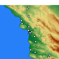 Nearby Forecast Locations - Grover Beach - карта