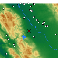 Nearby Forecast Locations - Gustine - карта