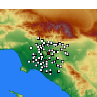 Nearby Forecast Locations - Hacienda Heights - карта