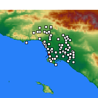 Nearby Forecast Locations - Hermosa Beach - карта