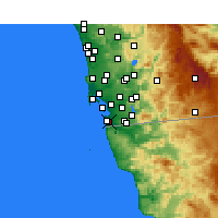 Nearby Forecast Locations - Imperial Beach - карта
