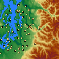 Nearby Forecast Locations - Issaquah - карта