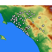Nearby Forecast Locations - Laguna Hills - карта
