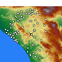 Nearby Forecast Locations - Lake Elsinore - карта
