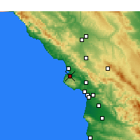 Nearby Forecast Locations - Los Osos - карта