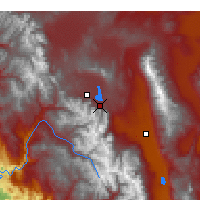 Nearby Forecast Locations - Mammoth Lakes - карта