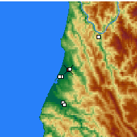 Nearby Forecast Locations - Mckinleyville - карта