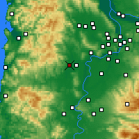 Nearby Forecast Locations - McMinnville - карта