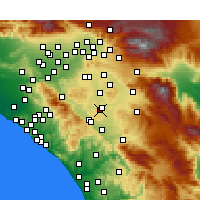 Nearby Forecast Locations - Menifee - карта
