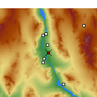 Nearby Forecast Locations - Mohave Valley - карта