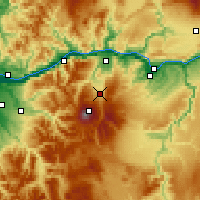 Nearby Forecast Locations - Mount Hood Parkda - карта