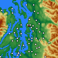 Nearby Forecast Locations - Mountlake Terrace - карта