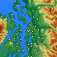 Nearby Forecast Locations - Mukilteo - карта