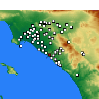 Nearby Forecast Locations - Newport Coast - карта
