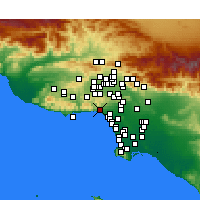 Nearby Forecast Locations - Pacific Palisades - карта