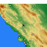Nearby Forecast Locations - Paso Robles - карта