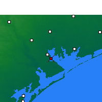 Nearby Forecast Locations - Port Lavaca - карта