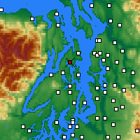 Nearby Forecast Locations - Poulsbo - карта