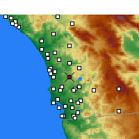 Nearby Forecast Locations - Poway - карта