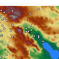 Nearby Forecast Locations - Rancho Mirage - карта