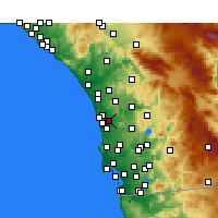 Nearby Forecast Locations - Rancho Santa Fe - карта