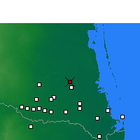Nearby Forecast Locations - Реймондвилл - карта