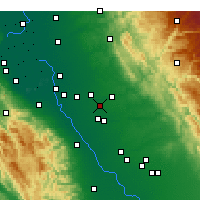 Nearby Forecast Locations - Riverbank - карта