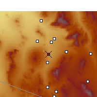 Nearby Forecast Locations - Sahuarita - карта