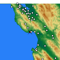 Nearby Forecast Locations - Scotts Valley - карта