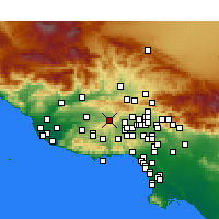 Nearby Forecast Locations - Simi Valley - карта