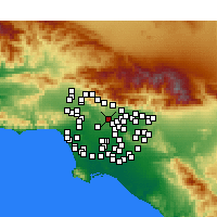 Nearby Forecast Locations - South Pasadena - карта