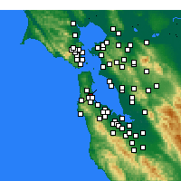 Nearby Forecast Locations - South San Francisco - карта